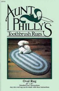 Aunt Philly's Toothbrush Rug - Oval