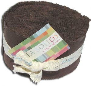 Bella Solids Jelly Roll by Moda, Brown, SKU 9900JR 71