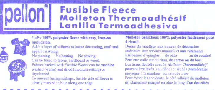 Pellon Fusible Fleece, #987F - Click Image to Close